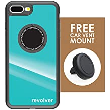 Ztylus iPhone 7 Plus / 8 Plus Gloss Teal Revolver M Series Case & Vent Mount: Drop Protection Cover Case with Magnetic Car Vent Mount for Apple iPhone