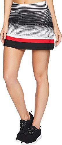 Fila Women's Heritage Tennis Skort Heritage Stripe/Black/Crimson XX-Large ()