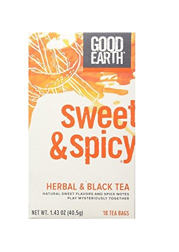 Good Earth Sweet & Spicy Herbal & Black Tea, 18 Tea bags, 1.43 Ounce (Pack of (Good Earth Sweet)