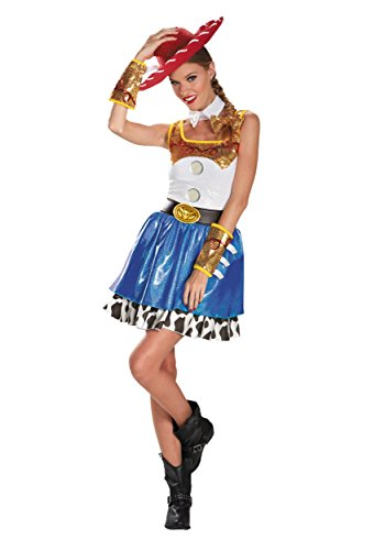 Disguise Disney Pixar Toy Story Jessie Glam Womens Adult Costume, Blue/White/Yellow/Black, -