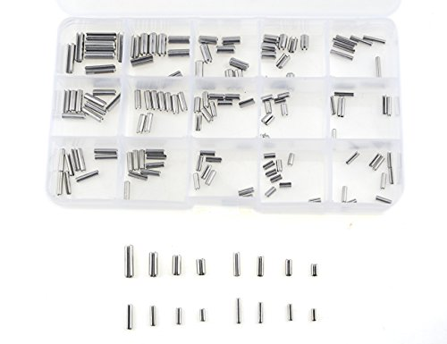 Slotted Pin (XLX 160pcs 16 Kinds 304 Stainless Steel Slotted Spring Pin Assortment kit ( Split Spring Dowel Tension Roll Pins Set ) M2 / M2.5 / M3 / M4)