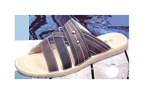 Newport Braun New Sandalen Pantoletten Decksohle Leder Port Blau mit rBwrECqvx