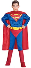 Super DC Heroes Deluxe Muscle Chest Superman Costume, Child's Small