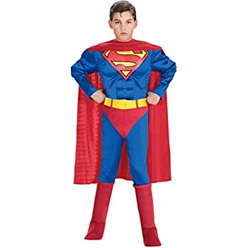 Super DC Heroes Deluxe Muscle Chest Superman Costume, Childs Small