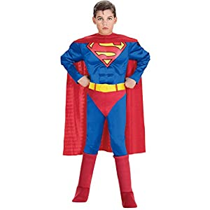 Super DC Heroes Deluxe Muscle Chest Superman Costume, Child