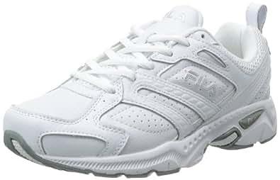 Fila Women's Capture Running Shoe,White/White/Metallic Silver,8.5 W US