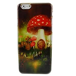 FJM Beautiful Mushroom Plastic Hard Back Cover for iPhone 6