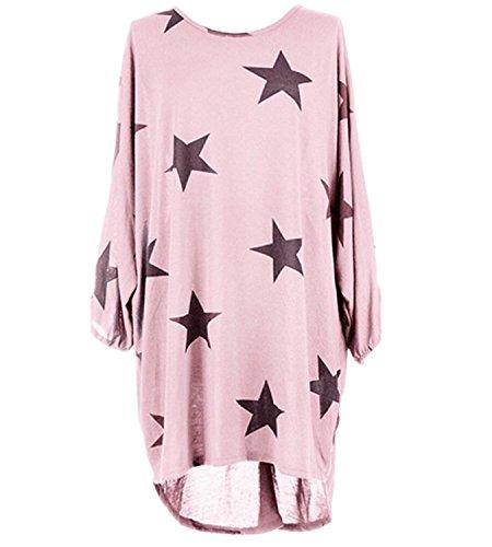 de manga 365 rosa para mujer Camiseta tiendas larga 1t14wxpvq