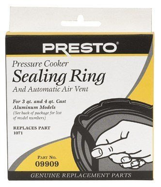 Presto Pressure Cooker Sealing Ring With Air Vent 4 (09909 Pressure Cooker Sealing Ring)
