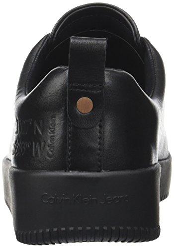 Calvin Klein Herren Gaetan Calf Sneaker, Schwarz, Schwarz (Black)