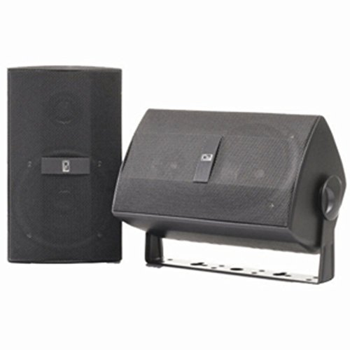 Grey Poly-Planar Marine Dual 120W Component Box Speakers+Mount Consumer Electronics