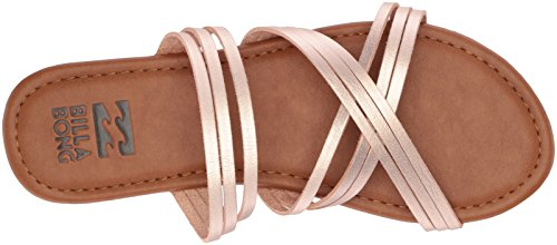 Flat Sandal Rose Gold Women's Toes Billabong Sandy PqwWxtXxFH