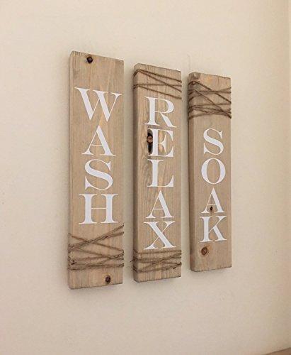 rustic-bathroom-signs-set-of-three-farmhouse-bathroom-decor-wash-soak-relax-signs-bathroom-sign