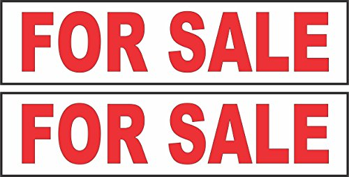 2 - 6x24 FOR SALE Real Estate Rider Sign Red