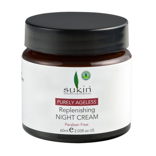 [Sukin Purely Ageless Replenishing Night Cream] スキン リプレニッシングナイトクリーム 60ml 3個セット B010UCVXPI