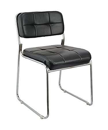 Da URBAN Office Fixed Visitor Chair arm Less (Black) ISO and BIFMA Certified