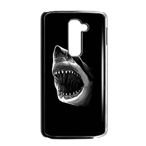 LG G2 Phone Case Covers Black Great White Shark Attack PKQ Design Personalized Cell Phone Case