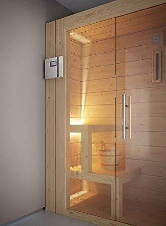 grandform Sauna Finlandés Estufa Eléctrica 6 plazas seduti, 2 sdraiati y 1 sentado. Home 2520 (cm). 250 x 200 x 208 H.): Amazon.es: Hogar
