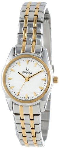 Bulova Women's 98L138 Bracelet Silver White Dial Watch ()