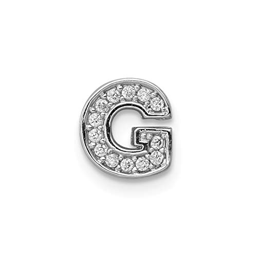 925 Sterling Silver Cubic Zirconia Cz Letter G Slide Pendant Charm Necklace Chain Initial Fine Jewelry For Women Gift Set