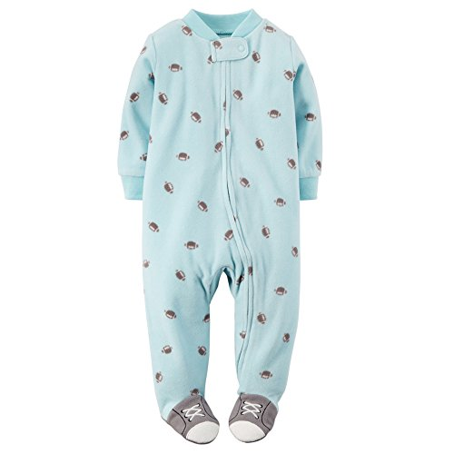 (Carter's Baby Boys' Footballs in Flight Footed Coverall - Blue, 6 Months)