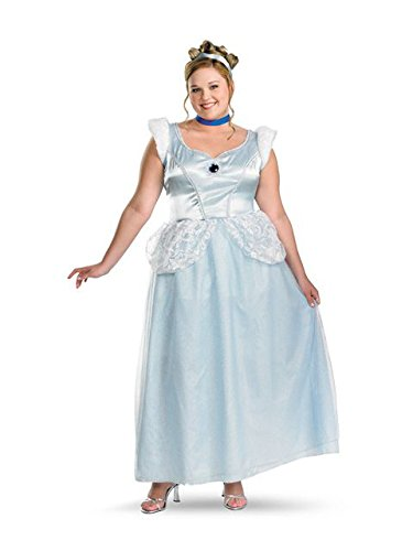 Cinderella Deluxe Adult Costume - X-Large - Cinderella Fancy Dress For Adults