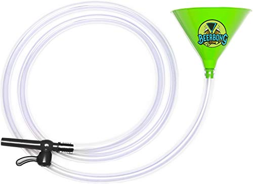 Premier Beer Bong Funnel - With Valve - 10 Feet Of No Kink Tubing! Food Grade, Holds 40 Ounces, You Pick From 7 Colors! (Green)