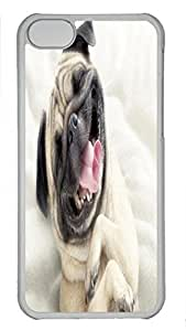 Custom design PC Transparent Case Cover For iPhone 5C DIY Durable Shell Skin For iPhone 5C with Smiling Dog