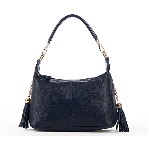 GWQGZ La Moda Casual Lady Handbag Negro Blue