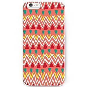 Lovers Gifts 7761538M92195647 Hard Back Case Cover with Aesthetic Print of Hand Drawing Colorful Pattern for iPhone 6 Plus(5.5 inch)