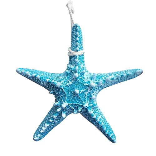 (YunKo Mediterranean Style Design Beach Starfish Bathroom Wall Wedding Decor Size Large (Blue))