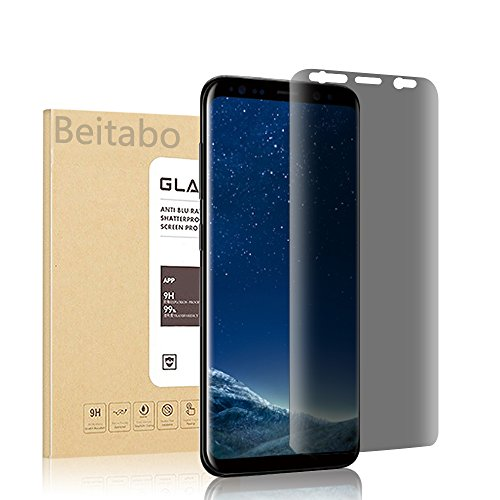 Galaxy S8 Privacy Screen Protector, Beitabo Anti-Spy Tempered Glass Screen Guard for Sumsung Galaxy S8- 3D Curved Edge Full Screen Coverage