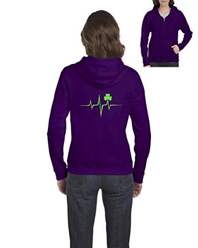 Grinder Hoodie (NIB Four Leaf Clover Shamrock ST. Patricks Day Irish Birthday Xmas Gift Womens Sweaters Zip Up)