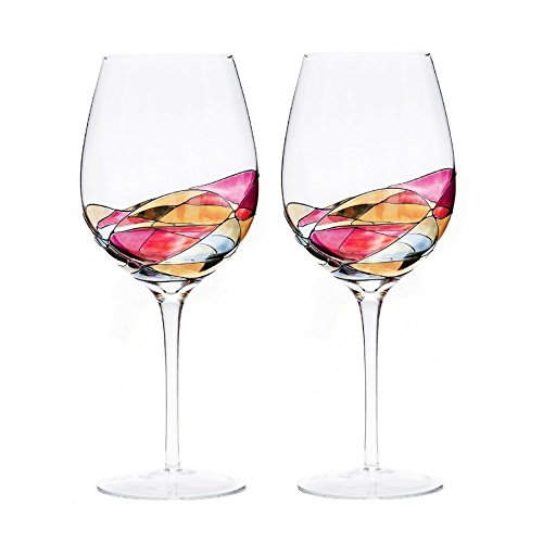ANTONI BARCELONA Large Wine Glass - Unique Hand Painted Gifts for Women, Men, Wedding, Anniversary, Couples, Engagement (2)