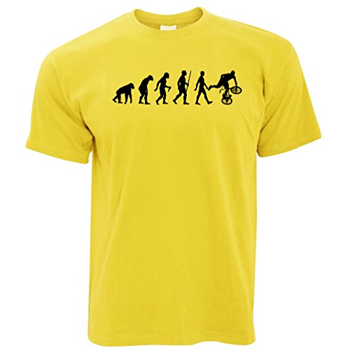 Tim And Ted Exrtreme Sports T Shirt Evolution of BMX Bike Dirt Yellow -