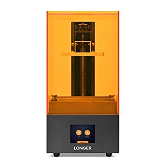 LONGER Orange 10 Resin SLA 3D Printer with Parallel LED Lighting, Full Metal Body, 3.86' x 2.17 x 5.5' Printing Size, Temperature Warning