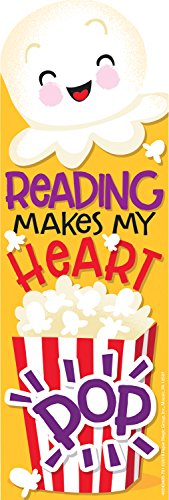 EUREKA 24 Piece Scratch-and-Sniff Popcorn Scented Bookmarks,