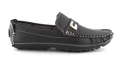 AORFEO Black Driving Leather Loafer Shoes For Men Leather Loafer Shoe (8)