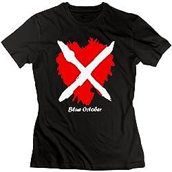 SEagleo Women's Blue October Single Quiet Mind 2016 Home Tour Logo Tee Black XX-Large
