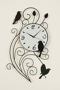 Amazon Com Ashton Sutton St3386 Metal Bird Pendulum Wall