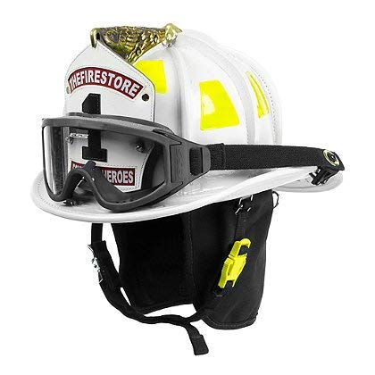 Cairns White N6A Houston Leather Fire Helmet - White,, used for sale  Delivered anywhere in USA