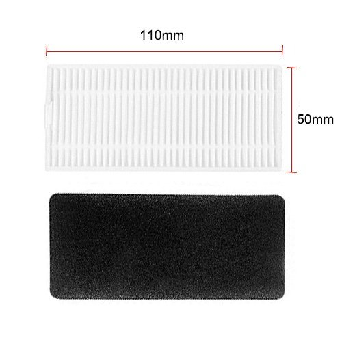 Large Product Image of Replacement Parts for Ecovacs DEEBOT N79 Deebot N79S Robotic Vacuum Cleaner Accessories - Filters+ Side Brush (Pack of 18)
