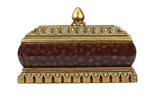 D'Lusso Designs JT28 Kashmir Collection Large Jewelry Trinket Box