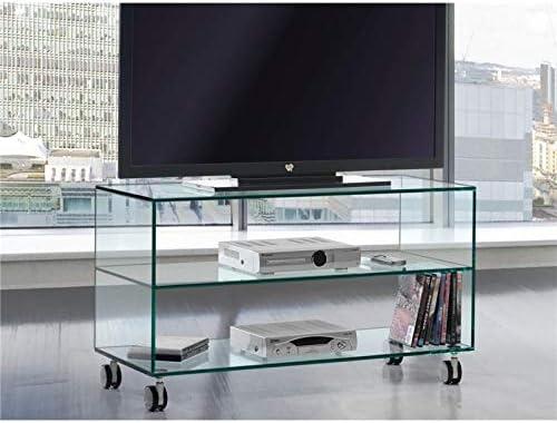Mesa de Televisión de Cristal con Ruedas Kolet 90 cm: Amazon.es: Hogar