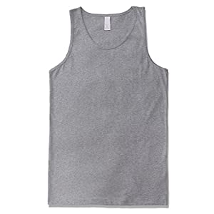 JD Apparel Men's Premium Basic Solid Tank Top Jersey Casual Shirts XL H Gray