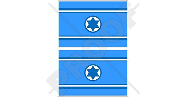 "ISRAEL Israeli Flag 50mm//2/"" Bumper-Helmet Stickers x4"