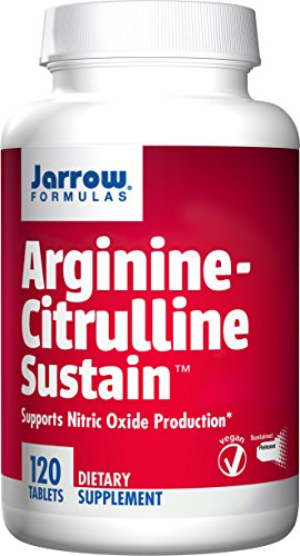Jarrow Formulas Arginine-Citrulline Sustain, Supports Nitric Oxide (NO) Production, 120 Tablets