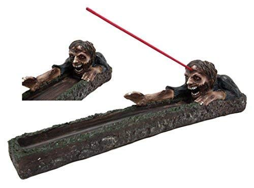 Atlantic Collectibles Zombie Walking Dead Rising from Grave Incense Stick Burner Figurine 12