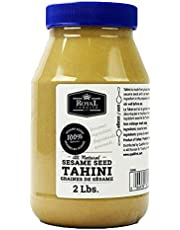 Royal Command Tahini Paste - 2lb (32oz) | Pure Ground Sesame Seeds, Make Homemade Hummus, Baba Ghanoush, All Natural, No Additives or Preservatives