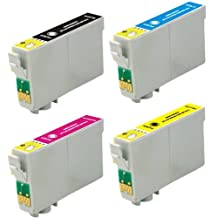 Virtual Outlet ® 4 Pack Remanufactured Inkjet Cartridges for Epson T060 #60, T060120 T060220 T060320 T060420 Compatible with Epson Stylus C68, Stylus C88, Stylus CX3800, Stylus CX3810, Stylus CX4200, Stylus CX4800, Stylus CX7800, Stylus CX5800F